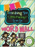 """Teaching Your """"Little Monkeys"""" How To Use The Word Wall {34 Week Program}"""