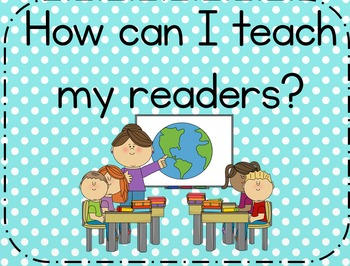 Teaching Your Readers! Anchor Charts