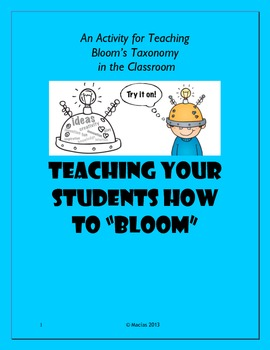 """Teaching Your Students how to """"Bloom"""" with task cards"""