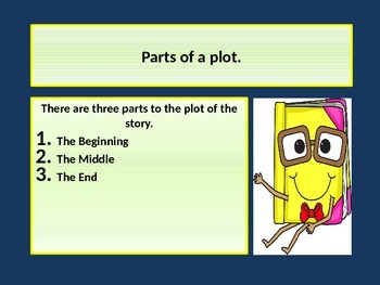 Teaching about PLOTS with a POWER POINT presentation. Common Core.