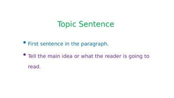 Teaching an Expository Paragraph