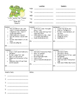 Teaching and Home management planner