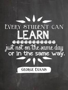 Teaching and Learning Chalkboard Quotes