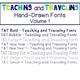Teaching and Traveling Fonts: Volume 1