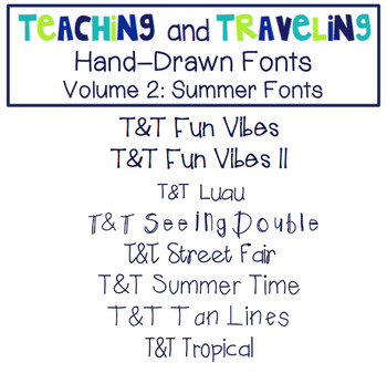 Teaching and Traveling Fonts: Volume 2
