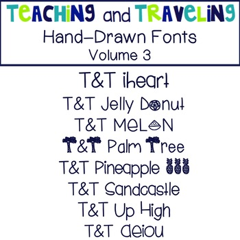 Teaching and Traveling Fonts: Volume 3