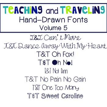 Teaching and Traveling Fonts: Volume 5