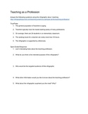 Teaching as a Profession Project/Assignment/Vocab Quiz com