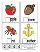 Teaching by the Letter A Missing Letter Clip Cards for Preschool & Fine Motor