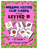 Teaching by the Letter B Missing Letter Clip Cards for Pre