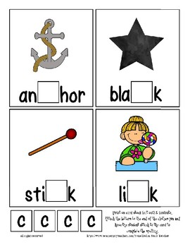 Teaching by the Letter C Missing Letter Clip Cards for Preschool & Fine Motor