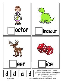 Teaching by the Letter D Missing Letter Clip Cards for Preschool & Fine Motor