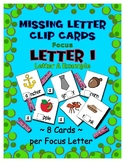 Teaching by the Letter I Missing Letter Clip Cards for Pre