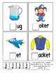 Teaching by the Letter J Missing Letter Clip Cards for Preschool & Fine Motor