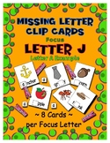 Teaching by the Letter J Missing Letter Clip Cards for Pre