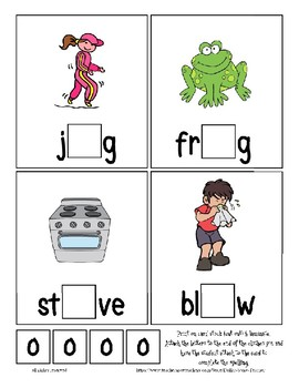 Teaching by the Letter O Missing Letter Clip Cards for Preschool & Fine Motor