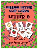 Teaching by the Letter O Missing Letter Clip Cards for Pre