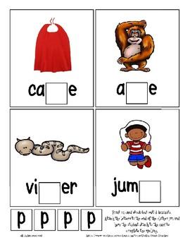 Teaching by the Letter P Missing Letter Clip Cards for Preschool & Fine Motor