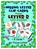 Teaching by the Letter R Missing Letter Clip Cards for Pre