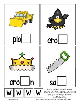 Teaching by the Letter W Missing Letter Clip Cards for Preschool & Fine Motor