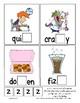 Teaching by the Letter Z Missing Letter Clip Cards for Preschool & Fine Motor