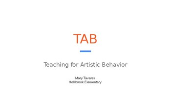 Teaching for Artistic Behavior