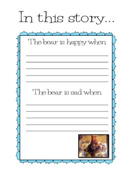 "Teaching how to infer with ""A Story For Bear"""