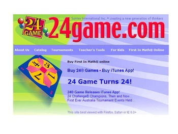 Mimio:Teaching how to play the 24 Math Card Game