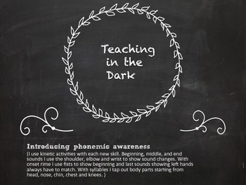 Teaching in the Dark Package (Phonological Awareness)