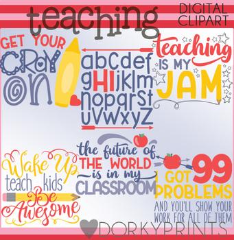 Teaching is my Jam Clipart