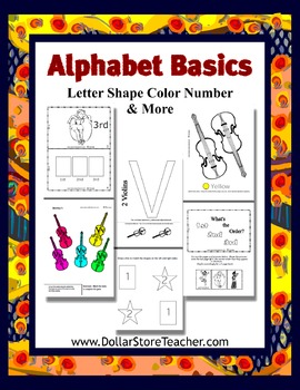 Teaching letter V - Basic Alphabet Curriculum - Preschool Kindergarten - Daycare