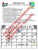 Teaching or Testing Calendar Skills Worksheet