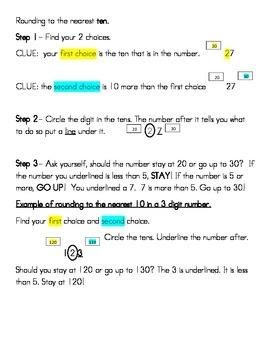 Teaching rounding to third graders