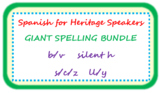 GIANT BUNDLE of teaching spelling to heritage speakers (b/v,c/s/z,h,ll/y)