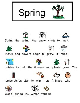 Teaching students with autism basic information about the 4 seasons