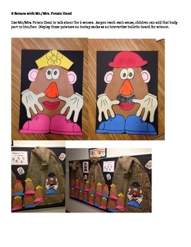 Teaching the 5 Senses with Mr. and Mrs. Potato Head