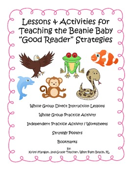 Teaching the Beanie Baby Animal Good Reading Strategies Activities