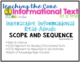 Scope and Sequence: Informational Interactive Read-Aloud L