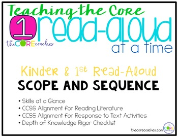Teaching the Core, 1 Read-Aloud at a Time: Kingergarten -