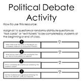 Political Debate Task Cards/Activity