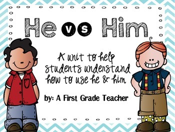 Teaching the Difference Between He & Him Mini Unit