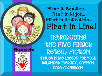 Teaching the Fiction Five Finger Retell- In Your Balanced Literacy Classroom