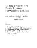 Teaching the Five Paragraph Essay--Fun With Fonts and Colors