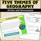 Five Themes of Geography Nonfiction Article and Assessment