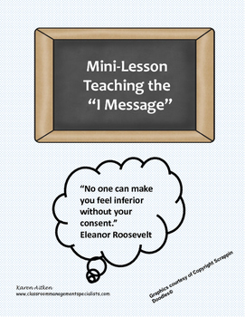 """Teaching the """"I Message"""""""