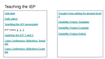 Teaching the IEP and self-advocacy skills