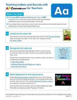Teaching the Letter Aa with ABCmouse.com