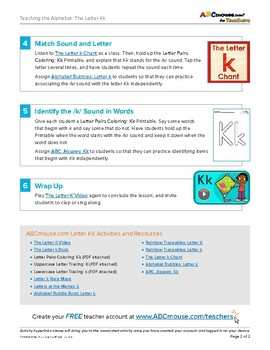 Teaching the Letter Kk with ABCmouse