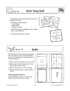 Teaching the Letter: Qq