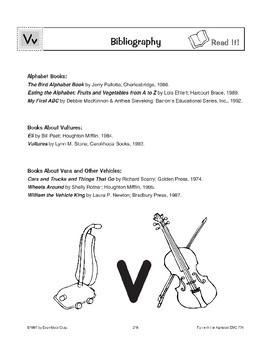 Teaching the Letter: Vv